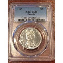1965 Canada 50 Cent PCGS - PL66