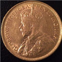 1912 Gold Canada 5 Dollars High Grade!!