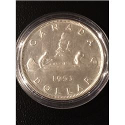 1953 Canada Dollar SF EF+