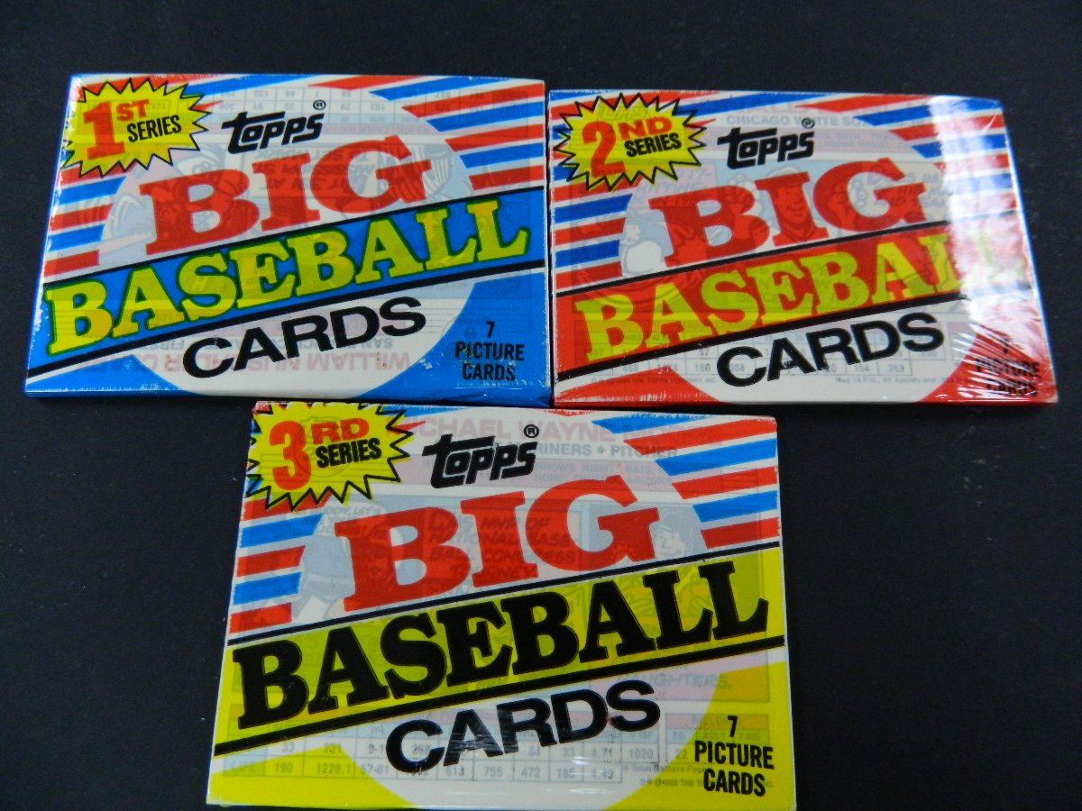 One Of Each 1988 Topps Big Baseball Cards Unopened Packs 7