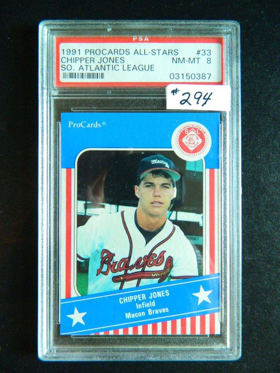 reputable site 62f49 a6703 1991 ProCards All-Stars #33, Chipper Jones, Macon Braves ...