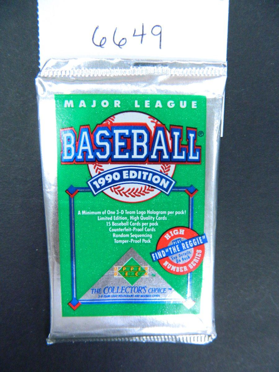 Six 6 Unopened Packs Of 1990 Upper Deck Baseball Cards