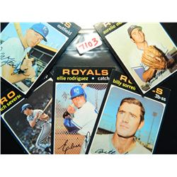 Five 5 1971 Topps Baseball Cards All Kc Royals All One