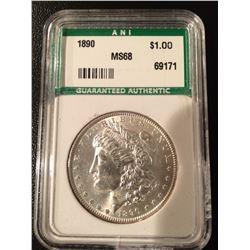 1890 Morgan Dollar - MS68