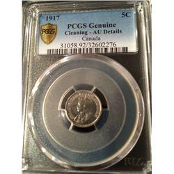1917 Canada 5 Cent PCGS AU Details