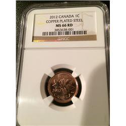 (2) 2012 Canada 1 Cent - NGC Last Penny - (Steel & Zinc)