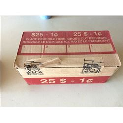 50 Roll Box Canadian Bank Pennies (Unsearched)