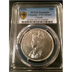 1936 Canada Dollar PCGS UNC Details