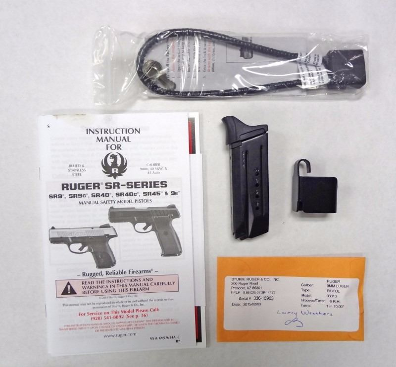 Ruger SR9C 9mm  New in box