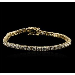 14KT Yellow Gold 5.01ctw Diamond Tennis Bracelet