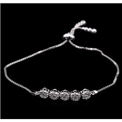 0.90ctw Diamond Bracelet - 14KT White Gold