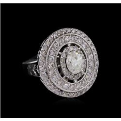 14KT White Gold 1.72ctw Diamond Ring
