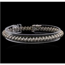 14KT White Gold 0.60ctw Diamond Tennis Bracelet