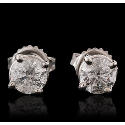 14KT White Gold 1.29ctw Diamond Stud Earrings