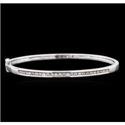 1.00ctw Diamond Bangle Bracelet - 14KT White Gold