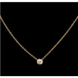 0.09ct Diamond Necklace - 14KT Yellow Gold