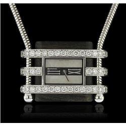 Van Cleef & Arpels 18KT White Gold Diamond Watch Pendant