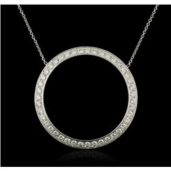 14KT White Gold 1.96ctw Diamond Pendant With Chain