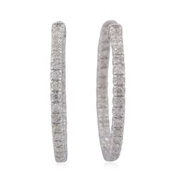 14KT White Gold 1.75ctw Diamond Earrings
