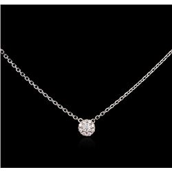 0.25ctw Diamond Necklace - 14KT White Gold