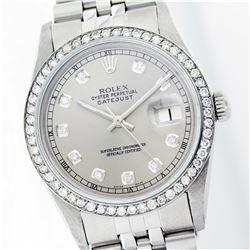 Rolex Stainless Steel 1.00ctw Diamond DateJust Men's Watch