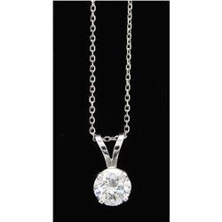 0.94ct Diamond Pendant With Chain - 14K White Gold