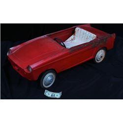 Antique Vintage Red Pedal Car c.1930-50's