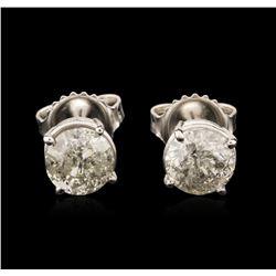 14KT White Gold 1.63ctw Diamond Stud Earrings