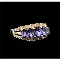 14KT Yellow Gold 2.22ctw Tanzanite and Diamond Ring