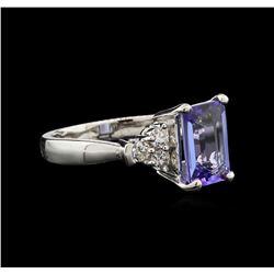 2.25ct Tanzanite and Diamond Ring - 14KT White Gold
