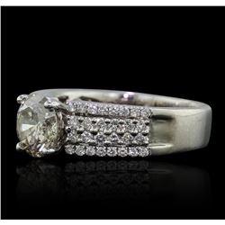 18KT White Gold 1.58ctw Diamond Ring