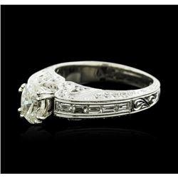 18KT White Gold 1.27ctw Diamond Ring