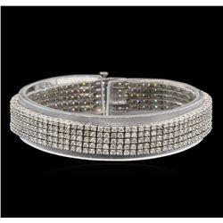 7.48ctw Diamond Bracelet - 14KT White Gold