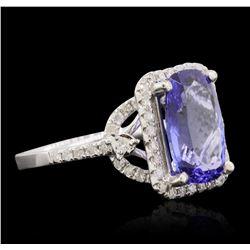 14KT White Gold 3.34ct Tanzanite and Diamond Ring