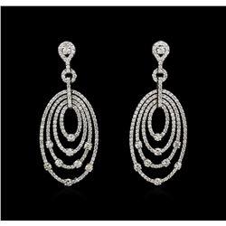 14KT White Gold 2.98ctw Diamond Earrings