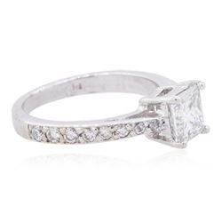 Platinum 1.43ctw Diamond Ring