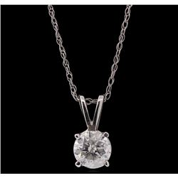 14KT White Gold 0.44ct Diamond Pendant With Chain