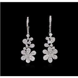 2.71ctw Diamond Earrings - 18KT White Gold