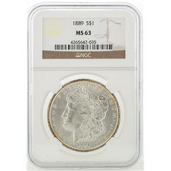1889 NGC MS63 Morgan Silver Dollar