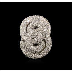 1.75ctw Diamond Pendant - 18KT White Gold