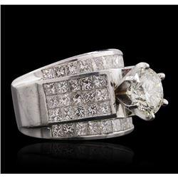 18KT White Gold 4.64ctw Diamond Ring