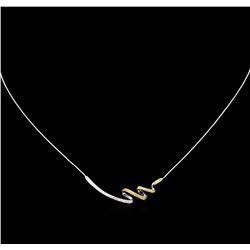 0.27ctw Fancy Yellow Diamond Necklace - 14KT