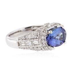 14KT White Gold 2.84ct Tanzanite and Diamond Ring