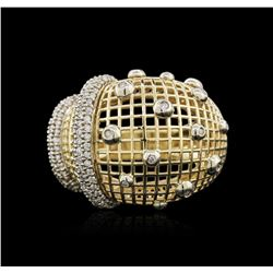 14KT Yellow Gold 0.98ctw Diamond Ring