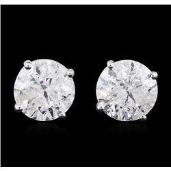 14KT White Gold 1.74ctw Diamond Stud Earrings