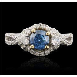 14KT Two-Tone Gold 1.18ctw Brilliant Cut Diamond Ring
