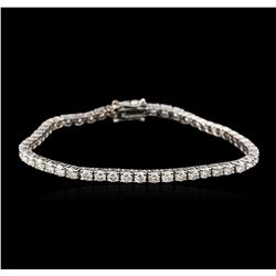 14KT White Gold 5.04ctw Diamond Tennis Bracelet