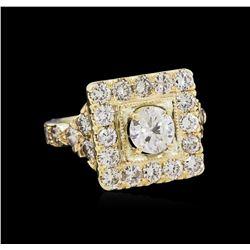 2.83ctw Diamond Ring - 14KT Yellow Gold