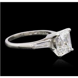 Platinum GIA Certified 3.35ctw Diamond Ring