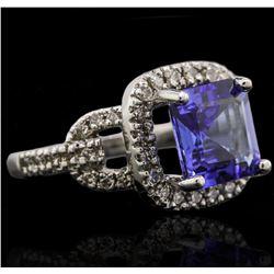 14KT White Gold 3.91ct Tanzanite and Diamond Ring